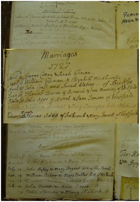Extract from Marriage Register